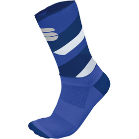Sportful Bodyfit Team 15 Socks Men Blue Twilight/Dazzling Blue/White